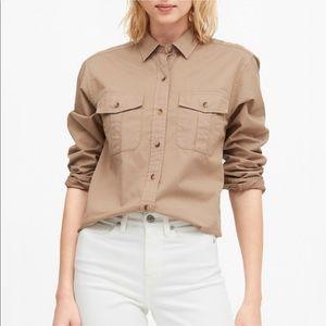 NWT Banana Republic utility shirt khaki Sz L